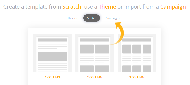 you can select to create a new template from scratch
